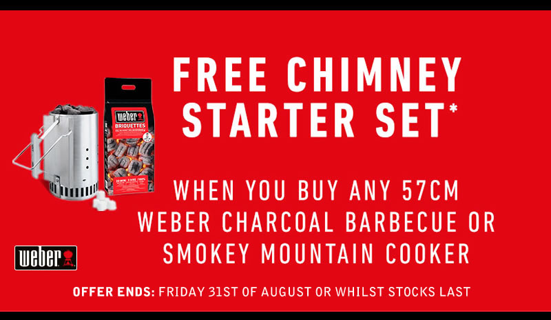 Free Chimney Starter Set With Charcoal BBQ's