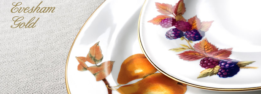 New production Evesham Gold with all the same patterns and shapes but with the added benefit of being able to be used in the microwave. & Buy Royal Worcester Evesham Gold Tableware from Royal Worcester ...