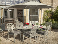 hartman amalfi oval garden furniture set