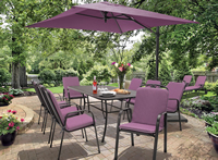 Kettler Siena 8 Seat Set With Amethyst Cushions