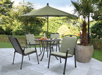 Kettler Siena 4 Seat Set With Sage Cushions