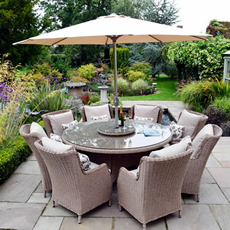 weave or wicker garden furniture